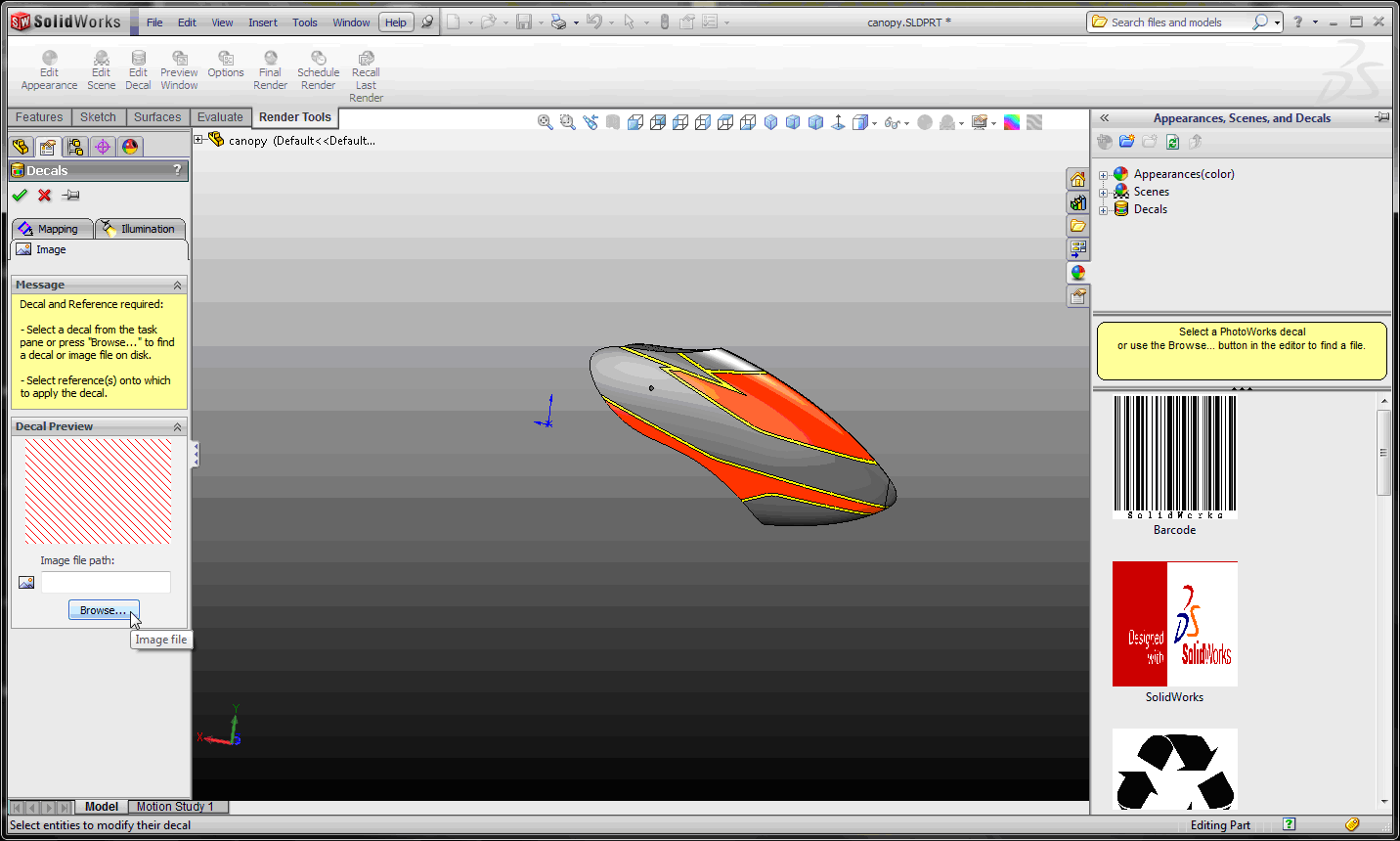 Decals For Everyone In SOLIDWORKS Computer Aided Technology - Decal graphics software