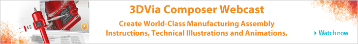 3DVIA Composer - World Class Assembly & animation - banner 728x90