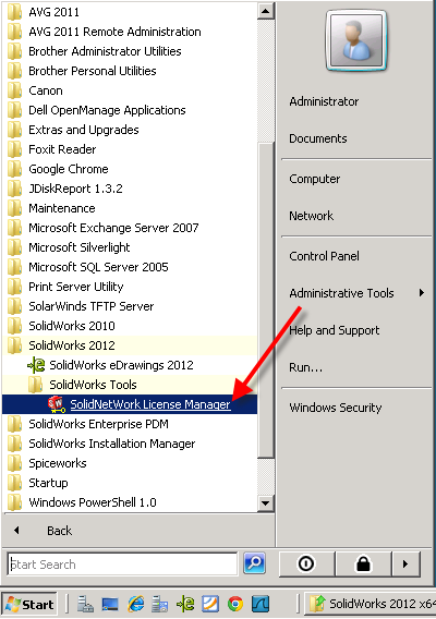 Installing SolidNetWork License Manager 2012 - Computer Aided Technology
